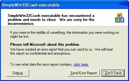 Default Win32/64 error handler
