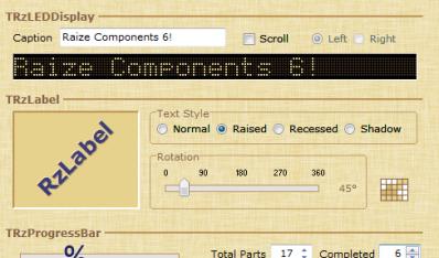 Delphi Raize Components界面框架简介